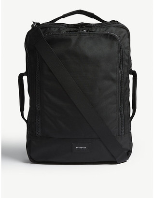 SANDQVIST Black Tyre Four Way Canvas Backpack