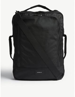 SANDQVIST Mens Black Tyre Four Way Canvas Backpack