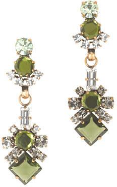 J.Crew Luxe crystal statement earrings