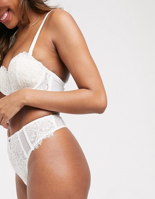 Ann Summers Fiercely Sexy lace and sequin high waist thong in white