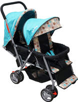 Adelina Blue & Brown Dot Double Stroller