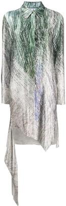 Off-White Spiral asymmetric shirt dress