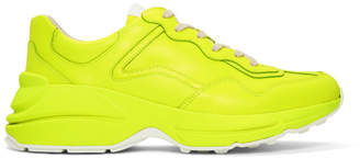 Gucci Yellow Fluo Rython Sneakers