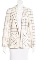 Derek Lam 10 Crosby Plaid Notch-Lapel Blazer