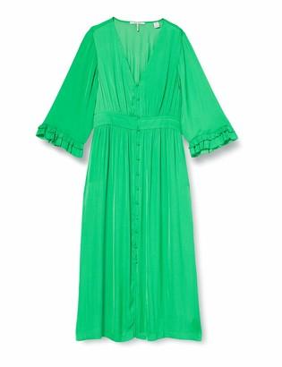 Scotch & Soda Women's Midi Length V-Neck Dress with Ruffles