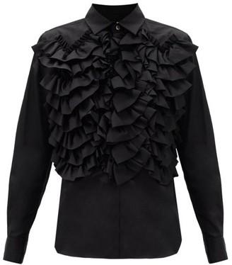 Comme des Garçons Comme des Garçons Ruffled Cotton Blouse - Black