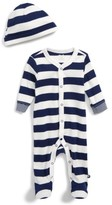 Offspring Infant Boy's Stripe Footie & Hat