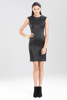 Josie Natori Ottoman Shine Sleeveless Dress