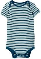 Kickee Pants Print Short Sleeve Bodysuit in Boy Animal Stripe (Baby Boys)