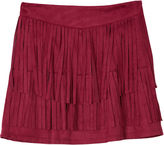 BY AND BY GIRL by&by Layered Fringe Faux-Suede Skirt - Girls 7-16