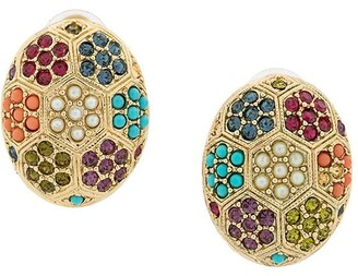 Susan Caplan Vintage 1980's D'Orlan Vintage oval earrings