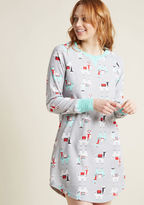ModCloth Livin' the Dream Nightgown and Stocking Set in S