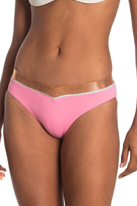 Bikini Lab Pink Sand Banded Hipster Bikini Bottom