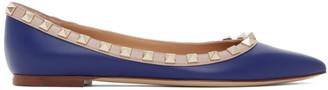 Valentino Navy Garavani Rockstud Ballerina Flats