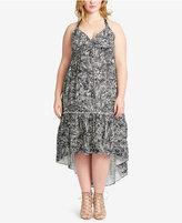 Jessica Simpson Trendy Plus Size Tiered High-Low Dress