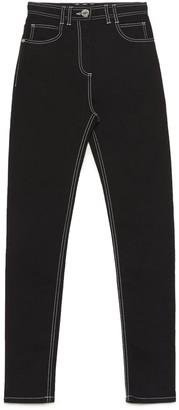Balmain Monogram Embroidered Skinny Jeans