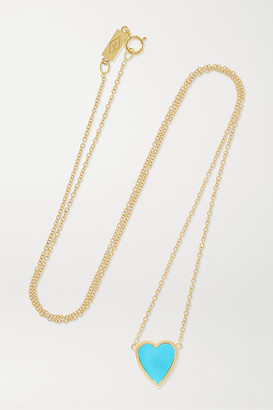 Jennifer Meyer Mini Heart 18-karat Gold Turquoise Necklace
