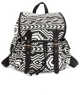 Charlotte Russe Double Buckle Tribal Backpack