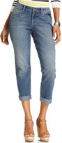 Style&Co. Style & Co. Jeans, Curvy-Fit Cuffed Ex-Boyfriend, Seaglass Wash