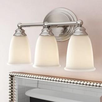 Farmersburg 3-Light Vanity Light Charlton Home Finish: Matte Nickel, Bulb Type: Incandescent