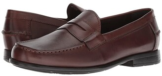 Nunn Bush Drexel Moc Toe Penny Loafer with KORE Walking Comfort Technology (Black) Men's Slip on Shoes