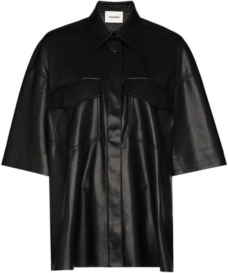 Nanushka Roque faux-leather shirt