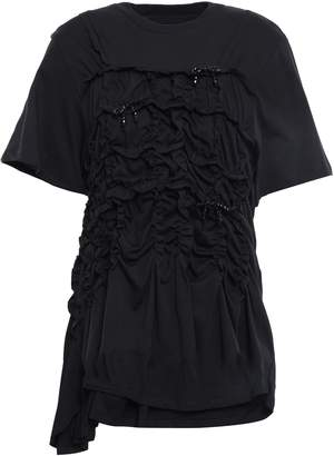Simone Rocha Bow-embellished Cotton-jersey T-shirt