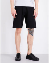 Kenzo Striped-logo Stretch-cotton Shorts