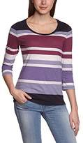 Eddie Bauer Women's 23402665 Striped Crew Neck 3/4 Sleeve T-Shirt,6