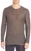 John Varvatos Melange Crewneck Sweater