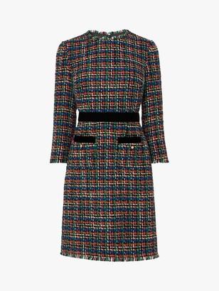 LK Bennett Lucy Tweed Dress, Multi