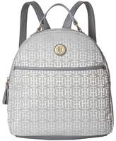 Tommy Hilfiger Alena Dome Backpack Mono Jacquard Backpack Bags