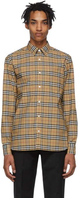 Burberry Beige Check George Shirt