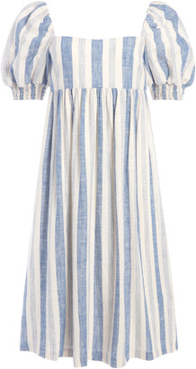 Alice + Olivia Bauery Puff Sleeve Midi Dress