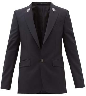 Givenchy Zardozi Embroidered Wool Blend Blazer - Mens - Black
