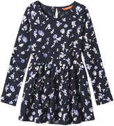 Joe Fresh Kid Girls' Floral Knit Dress, JF Midnight Blue (Size S)