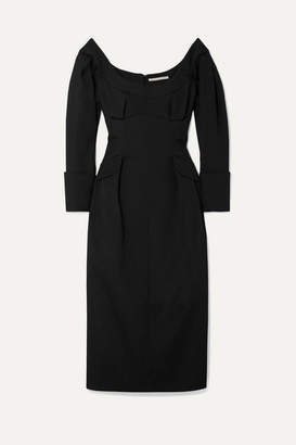 Emilia Wickstead Darlene Cloque Dress - Black