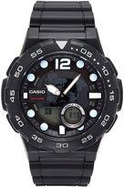 G-Shock G SHOCK Casio Mens Black Analog/Digital Dive Strap Watch AEQ100W-1AV