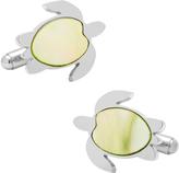 Cufflinks Inc. Men's Stainless Steel Mother of Pearl Turtle Cufflinks