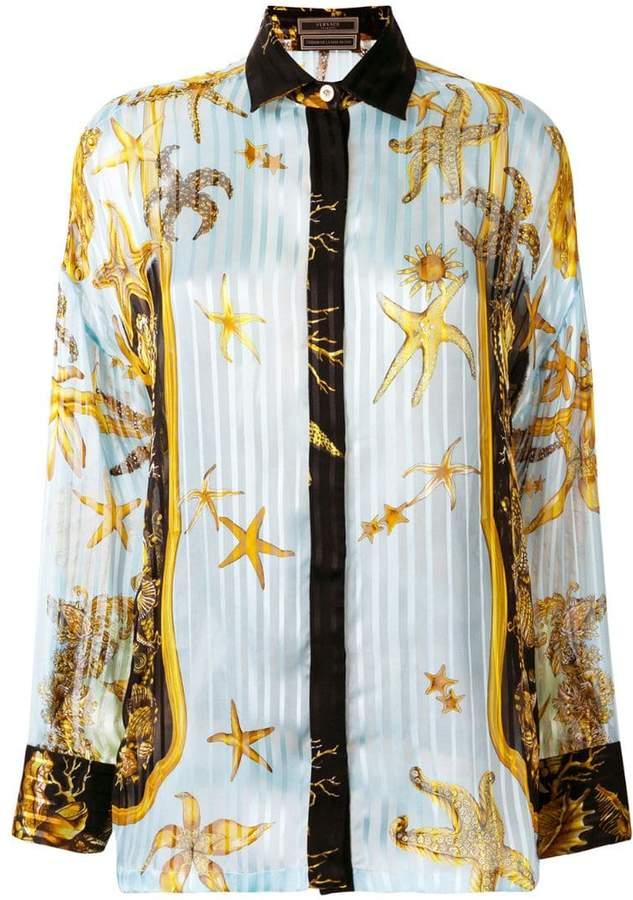 Versace signature printed shirt