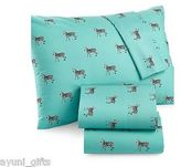 Martha Stewart Whim Collection 100% Cotton Sheet Set Zebras Full Size