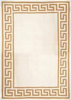 Jonathan Adler Camel Greek Key Border Reversible Peruvian Llama Flat Weave Rug