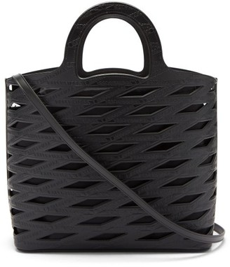 Balenciaga Neo Panier Cutout Faux-leather Tote Bag - Black