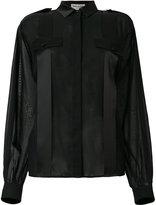 Saint Laurent sheer panel shirt