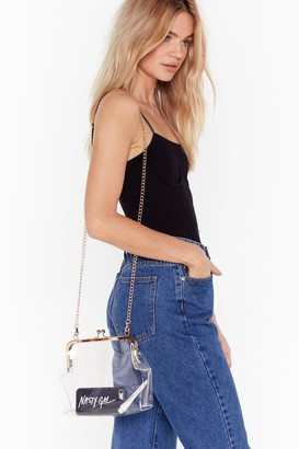 Nasty Gal Womens WANT See It So Clear Chain Crossbody Bag - Metallics - One Size