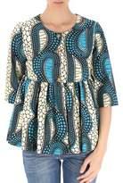 Stella Jean Women's Blue Cotton Blouse.