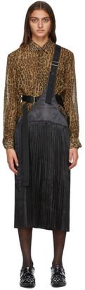 Junya Watanabe Black Plisse One-Strap Suspender Skirt