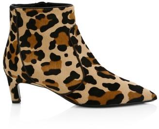 Aquatalia Marilisa Leopard-Print Calf Hair Ankle Boots