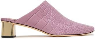 Nanushka Maya Croc-effect Vegan Leather Mules