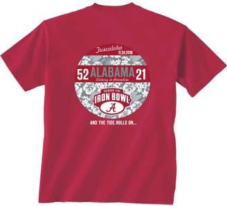 Victoria's Secret Unbranded Men's Crimson Alabama Crimson Tide Auburn Tigers 2018 Football Score T-Shirt